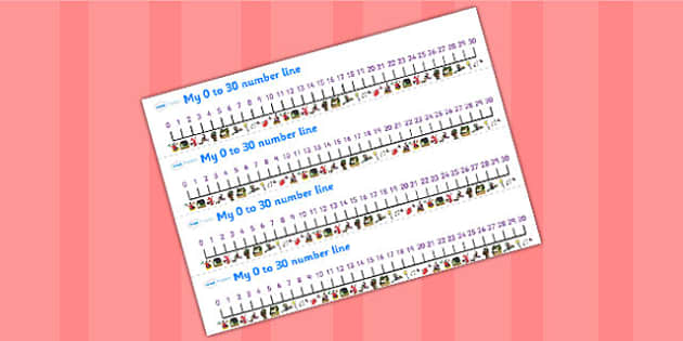 Number Lines 0-30 to Support Teaching on Room on the Broom - room on the broom, number line, 0-30, 0-30 number line, number tracks, number strips, themed number line