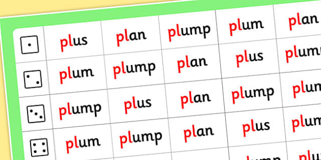 Phase 4 Initial Blends Roll and Read Mat pl - phase 4, roll, read