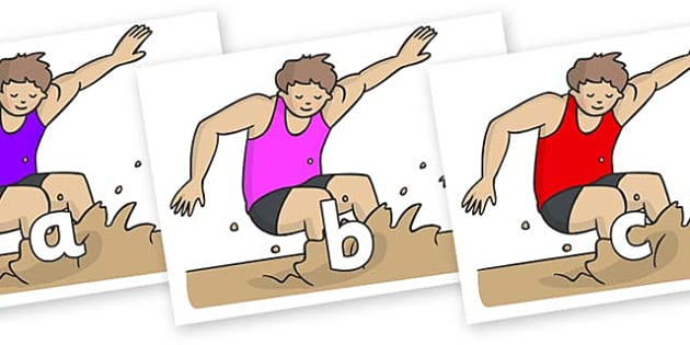 Phase 2 Phonemes on Long Jump - Phonemes, phoneme, Phase 2, Phase two, Foundation, Literacy, Letters and Sounds, DfES, display