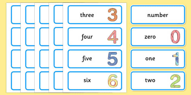 Maths Number System Word Cards - maths number system, word cards, number system word cards, maths word cards, word cards, maths