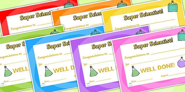 Science Club Certificate - science club, certificates, reward, award, reward certificates, certificate template, behaviour management, class management