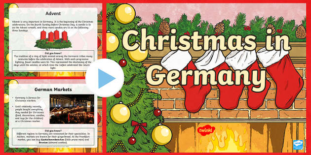 KS2 Celebrating Christmas in Germany PowerPoint - Christmas, Nativity, Jesus, xmas, Xmas, Father Christmas, Santa, St Nic, Saint Nicholas, traditions,