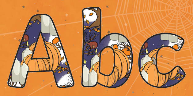 Samhain Display Letters and Numbers Pack