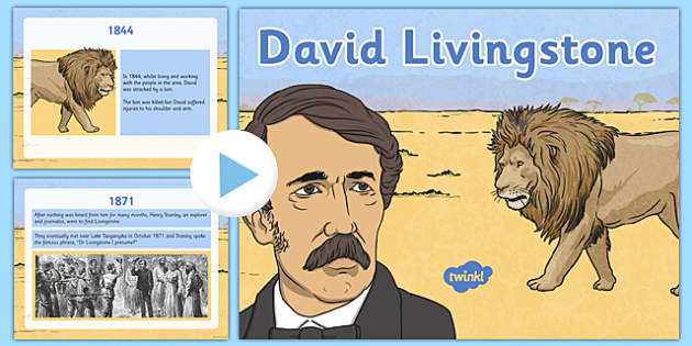 Scottish Significant Individuals David Livingstone PowerPoint - Scottish significant individual, explorer, Christian missionary, Africa, Victoria Falls, Zambezi, slave trade, anti-slave