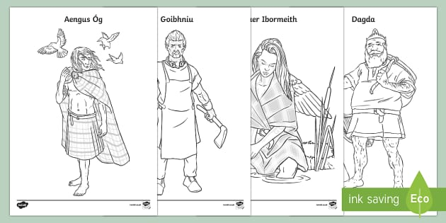 Irish Celtic Gods and Goddesses Colouring Pages-Irish - Requests - ROI, the Celts, Celtic gods, Celtic Goddesses, Irish gods, history, colouring sheets, col