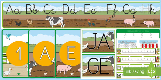Decoración de la clase: En la granja - En la granja, transcurricular, proyecto, animales, vaca, cerdo, oveja, pato, caballo, cabra, burro,
