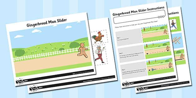 Activity Sheet Gingerbread Man Slider - activity, slider, gingerbread, worksheet