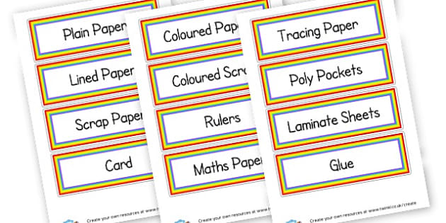 Supplies Labels - Drawer & Peg Name Labels Primary Resources, Name Label, Label, Peg
