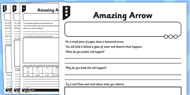 Activity Sheet Amazing Arrow Investigation - activity, amazing, arrow, investigation, worksheet