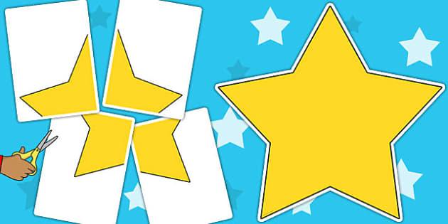 A2 Star Cut Out - star, cut out, a2, display, cut, cut out star