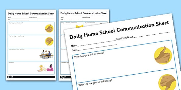 Daily Home School Communication Sheet Secondary - Home, School, Communciation, SEN, Special, Educational, Needs, Additional, Transition, Parents, Carers, secondary, ks3
