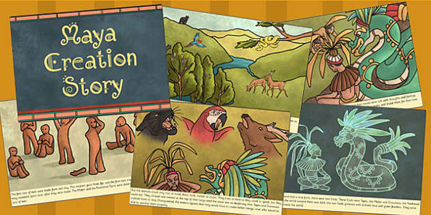 Mayan Civilization Creation Story Cards - ancient maya, mayans