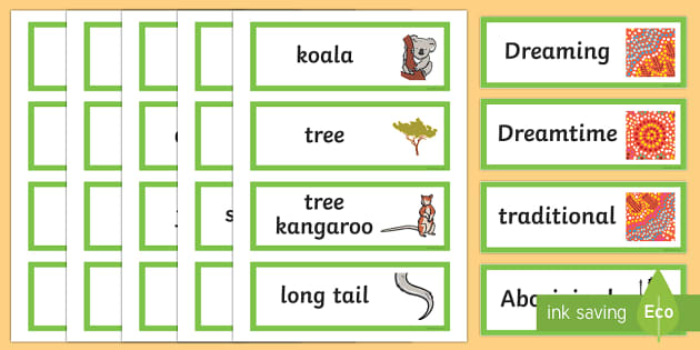 Why the Koala Has a Stumpy Tail Word Cards
