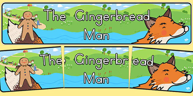The Gingerbread Man Display Banner - australia, gingerbread man