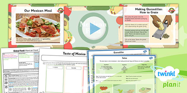 PlanIt - DT UKS2 - Global Food Lesson 4: Mexican Food Lesson Pack