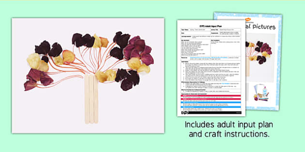 Dried Petals Picture Craft EYFS Adult Input Plan and Resource Pack - adult led