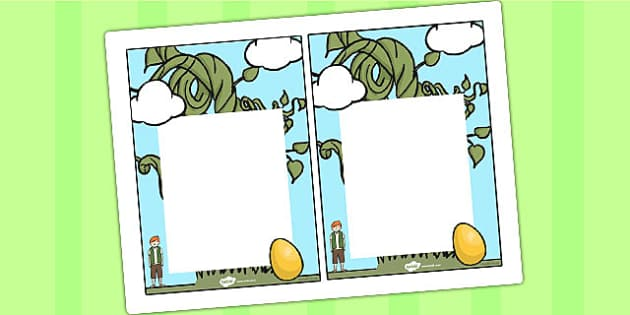 Jack and the Beanstalk Editable Notes To Teacher - notes, jack