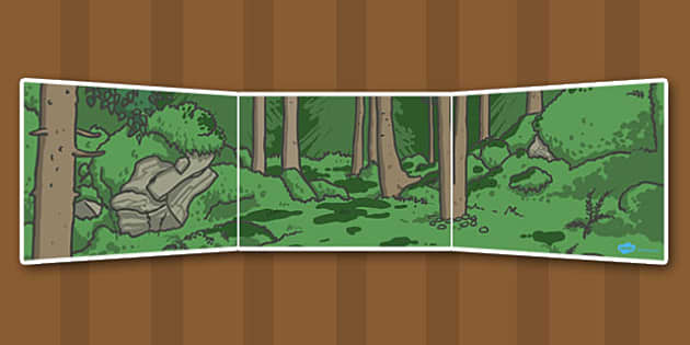 Ive Lost My Teddy Where Is It Small World Background (Dark) - Where's My Teddy, teddy, small world, woods, forest, lost, bear, reading, story, book, backdrop, background, scenery, small world area, small world display, small world resources