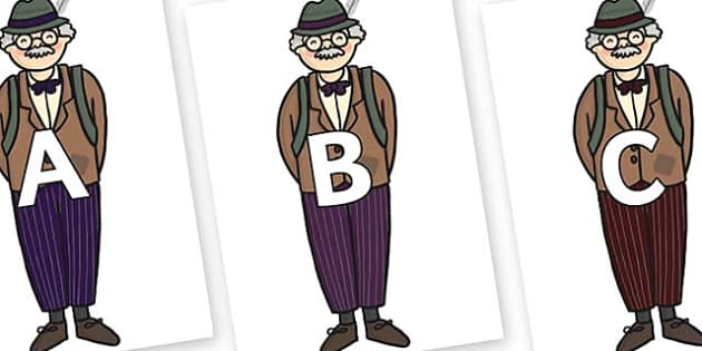 A-Z Alphabet on Beautys Dad - A-Z, A4, display, Alphabet frieze, Display letters, Letter posters, A-Z letters, Alphabet flashcards