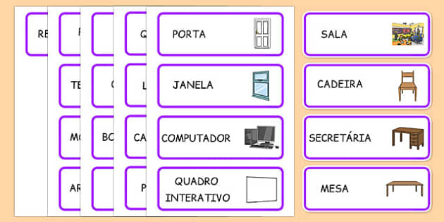 Classroom Word Cards Portuguese - portuguese, classroom, word cards, word, cards