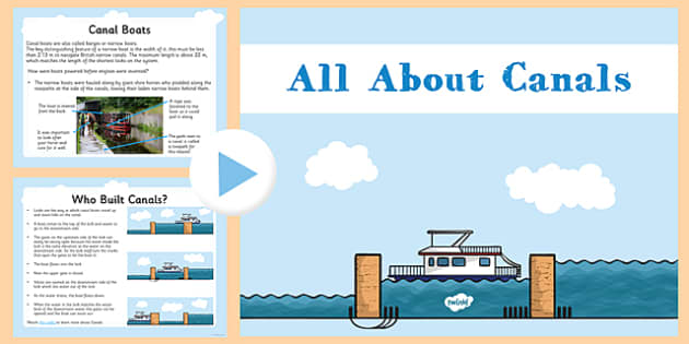 All About Canals - all about, canals, ks2, geography, waterways, powerpoint