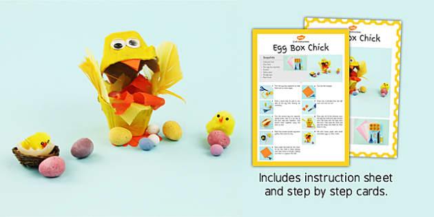 Egg Box Chick Craft Instructions - craft, instructions, egg, box
