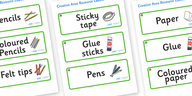 Eucalyptus Themed Editable Creative Area Resource Labels - Themed creative resource labels, Label template, Resource Label, Name Labels, Editable Labels, Drawer Labels, KS1 Labels, Foundation Labels, Foundation Stage Labels