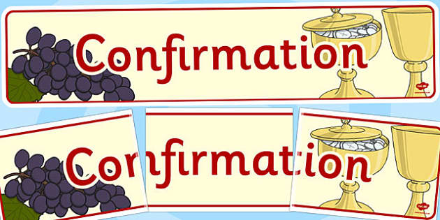 Confirmation Display Banner - confirmation, display, banner