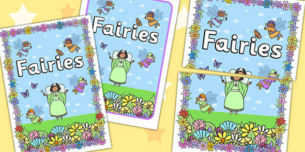 Fairies 2xA4 Display Poster - fanstasy, fairy, posters, display