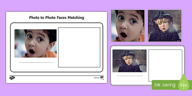Workstation Pack: Photo to Photo Faces Matching Activity