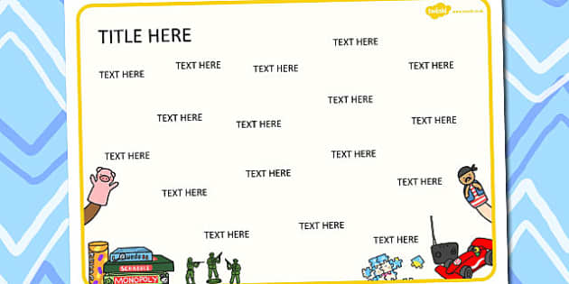 Toys Themed Editable Word Mat - literacy, words, writing, mats