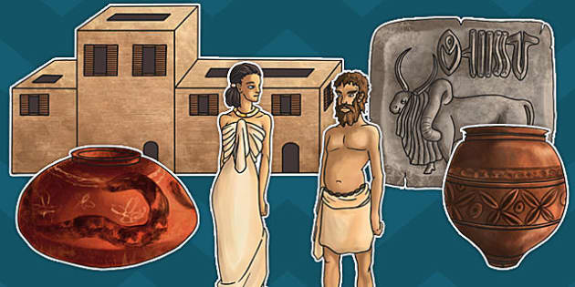 Indus Valley Large Display Cut Out Pack - indus valley, history, KS2, Key Stage 2