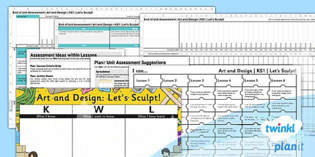 PlanIt - Art KS1 - Let's Sculpt Unit Assessment Pack - planit, art, ks1, lets sculpt, unit, assessment, pack