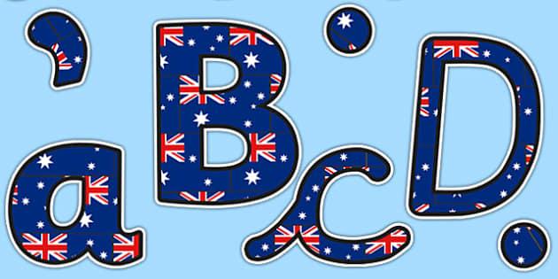 Display Lettering & Symbols (Australia) - Display lettering, Australia, display letters, alphabet display, letters to cut out, letters for displays, coloured letters, coloured display, coloured alphabet
