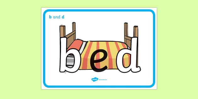 B And D Display Posters Literacy Confusing Letters B And D