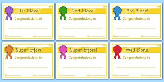 Sports Day Award Certificates Reward sports day award – Sports Award Certificates