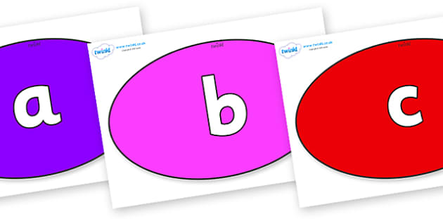 Phoneme Set on Ovals - Phoneme set, phonemes, phoneme, Letters and Sounds, DfES, display, Phase 1, Phase 2, Phase 3, Phase 5, Foundation, Literacy