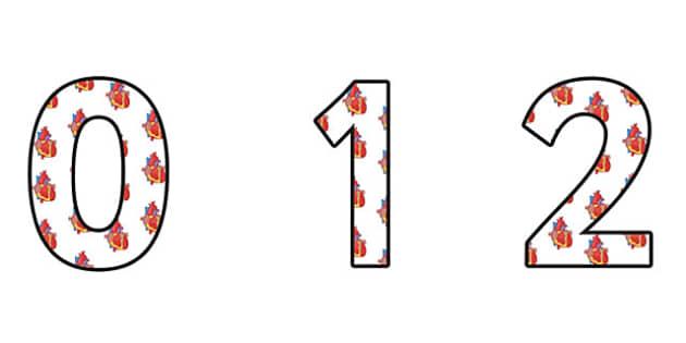 Circulation Display Numbers - circulation, circulation display, circulation themed numbers, circulation numbers, circulation cut out numbers, a-z display