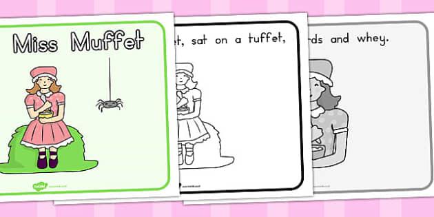 Little Miss Muffet Story Sequencing - Australia, Little, Miss