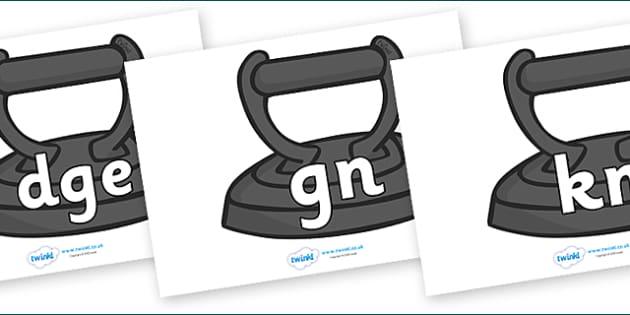 Silent Letters on Irons - Silent Letters, silent letter, letter blend, consonant, consonants, digraph, trigraph, A-Z letters, literacy, alphabet, letters, alternative sounds