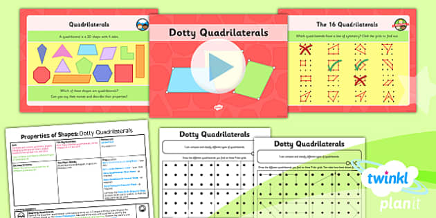 PlanIt Y4 Properties of Shape SolveIt Lesson Pack - PlanIt, Properties of Shapes