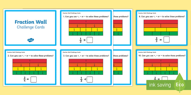 Fraction Wall Challenge Cards