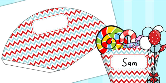 Zig Zag Birthday Party Food Cones Red And Blue - birthday, party