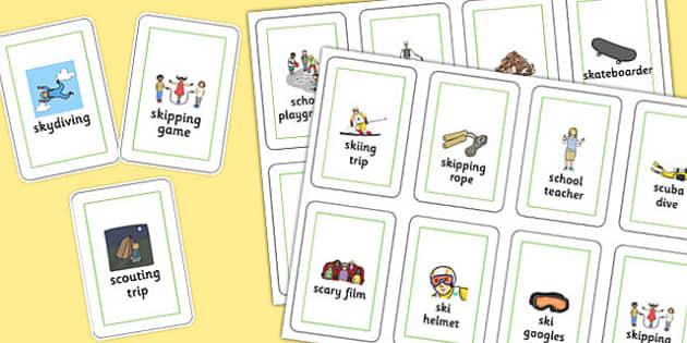 Three Syllable SC/SK Playing Cards - three syllable, sc/sk, playing, cards