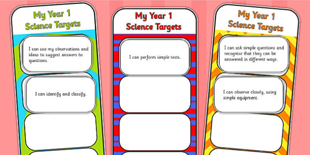 2014 Curriculum Year 1 Science Assessment Bookmarks and Cut Outs