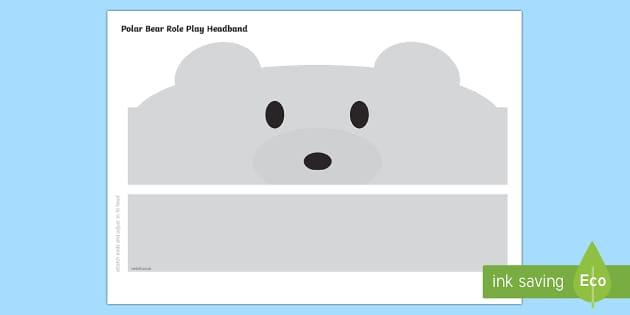 Polar Bear Role Play Headbands - The Arctic, Polar Regions, north pole, south pole, explorers, role play, headbands