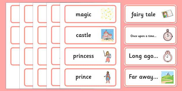 Fairy Tale Word Cards - fairy tale, word, cards, fairy, tale