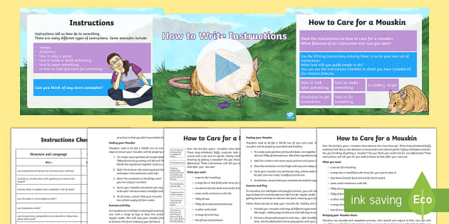 How to Write Instructions UKS2 Lesson Teaching Pack - How to Write Instructions Year 5/6, Year 5, Year 6, imperative verbs, instructions, non-fiction, wri