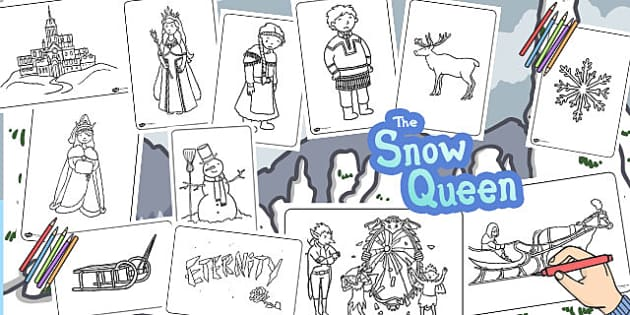 The Snow Queen Colouring Sheets - Snow, Queen, Colouring sheet