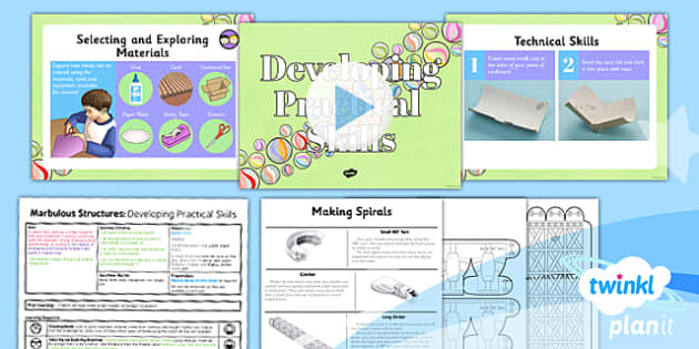 PlanIt - DT UKS2 - Marbulous Structures Lesson 3: Developing Practical Skills Lesson Pack - skills, tools, equipment, make